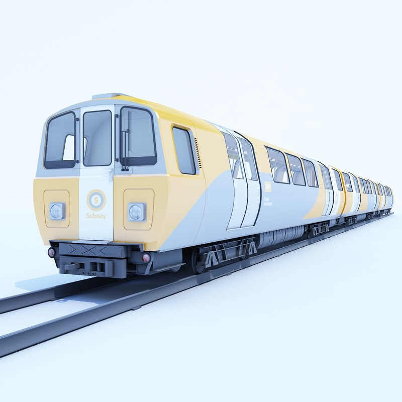 glasgow subway train 3d model