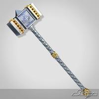 medieval hammer 1 3d model