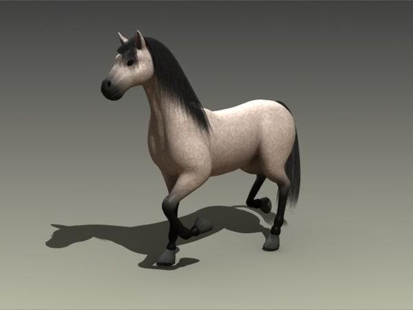 horse trotting max