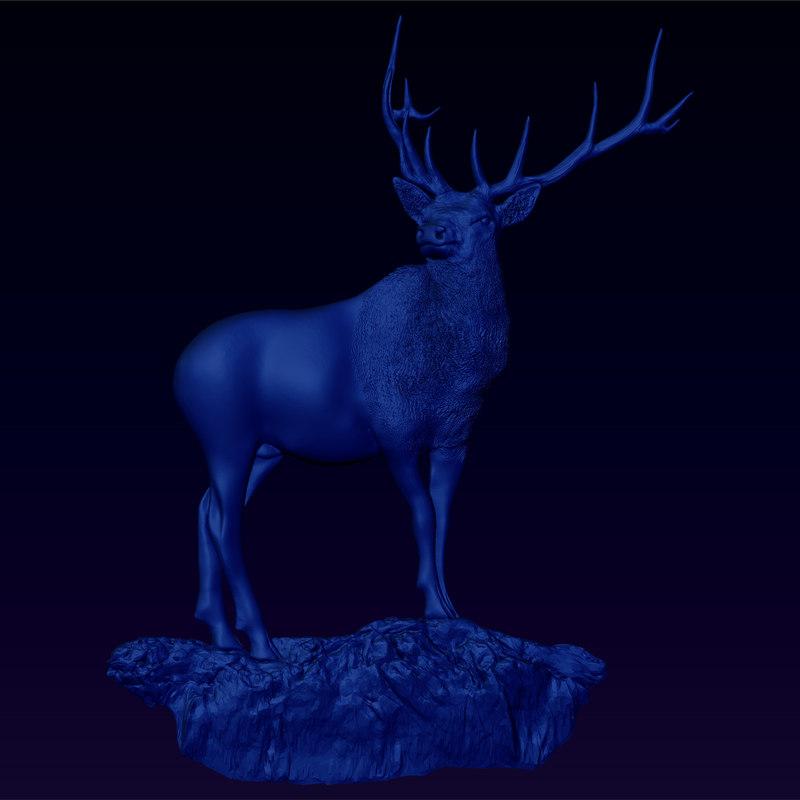 3d bas relief monarch glen model