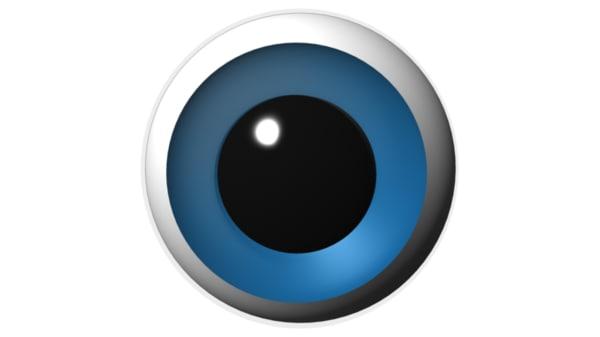 iris characters eyes 3d model