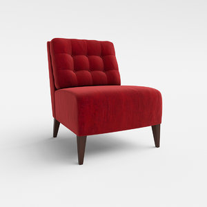 3d model hampton 555 lounge chair