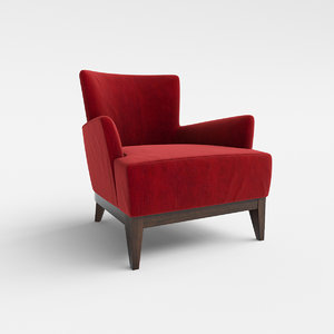 3d opera 168au lounge armchair model