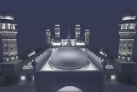 3d model masjid night