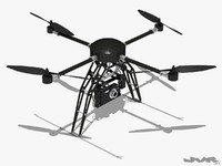 3d model generic quadcopter camera