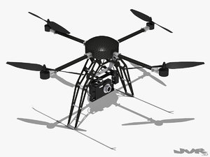 3d model generic quadcopter camera