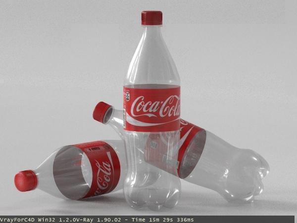 3d model coca cola