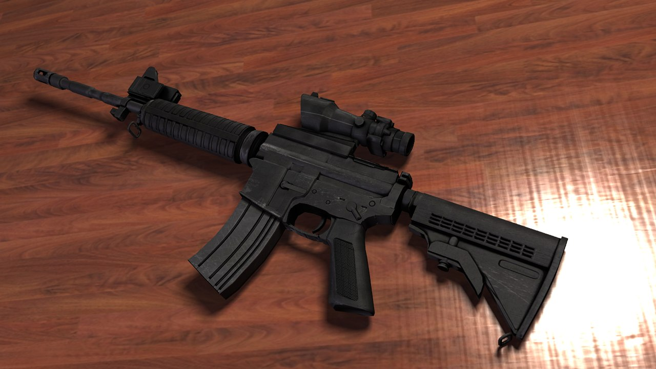 m4 assault rifle 3d max
