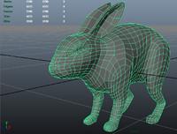 free rabbit 3d model