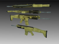 3d model weapon scar gun scar-l