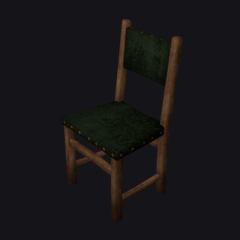 3d model medieval chair