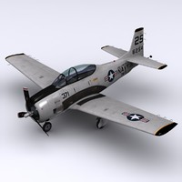 3ds max north american t-28 trojan