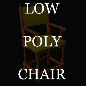 3d model chair antique