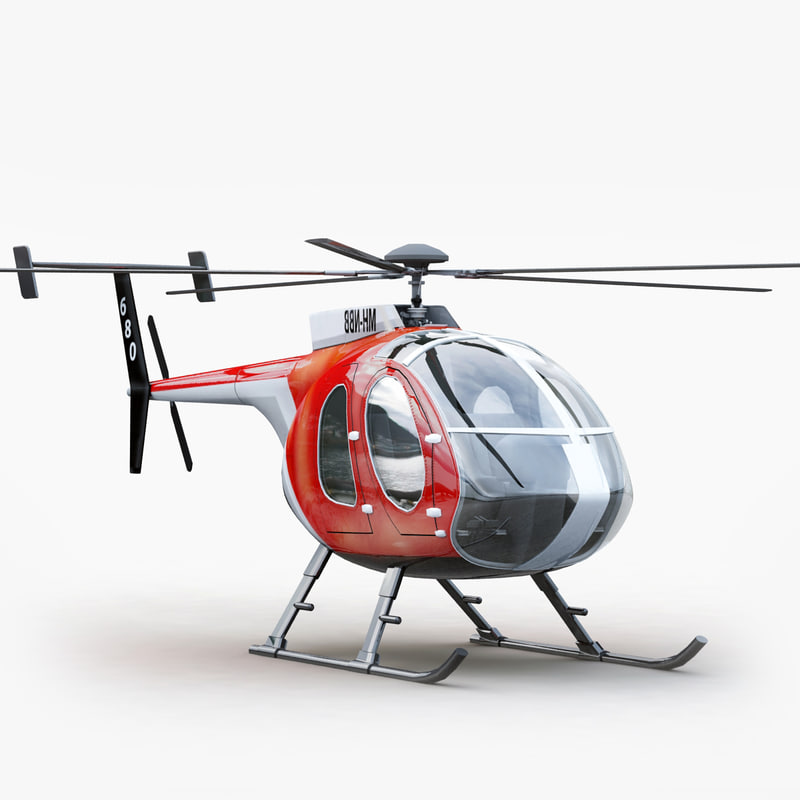 md 530 helicopter interior 3d 3ds