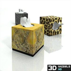 tissue boxes 3d model