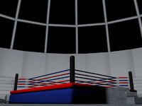 boxing ring 3d c4d