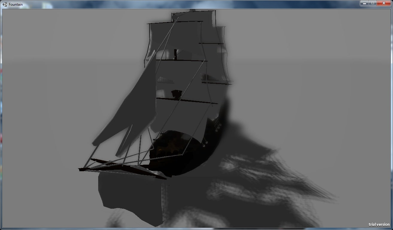 pirate frigate 3d model