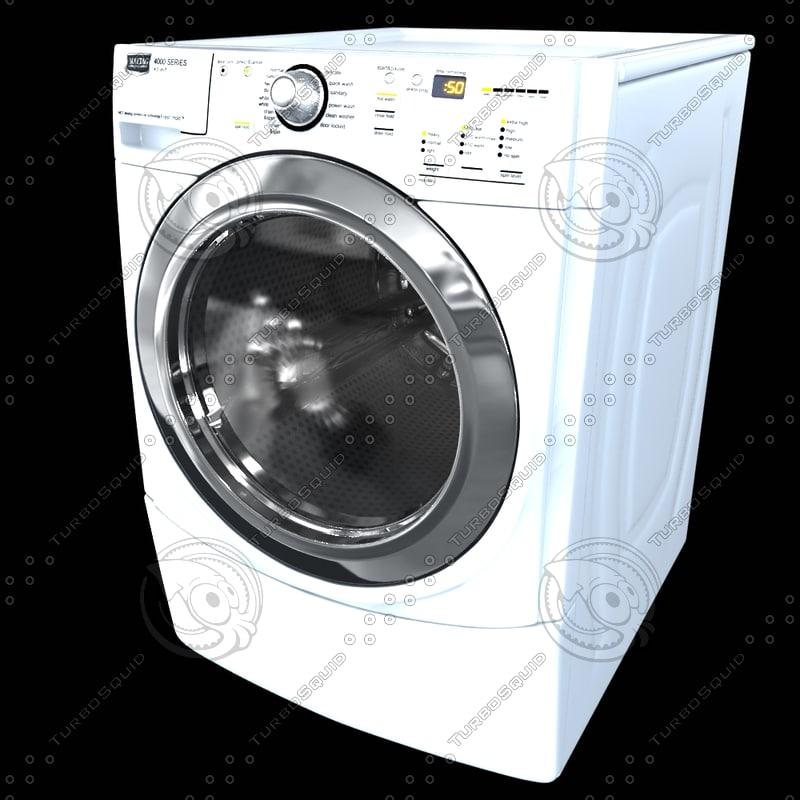 3d washing machine washer model