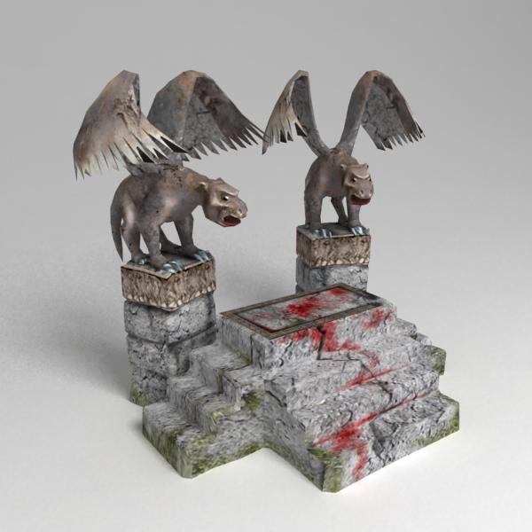 3d demonic altar model