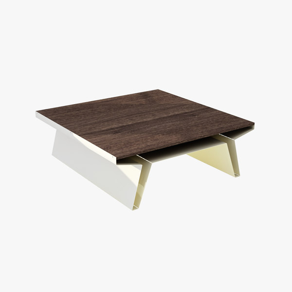 blu square cocktail table 3d model