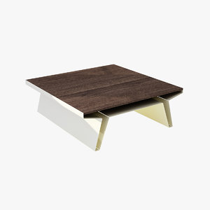 blu square cocktail table 3d model