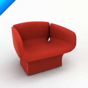 bloomy armchair patricia urquiola 3d model