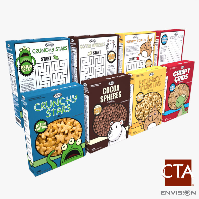 fbx generic cereal boxes
