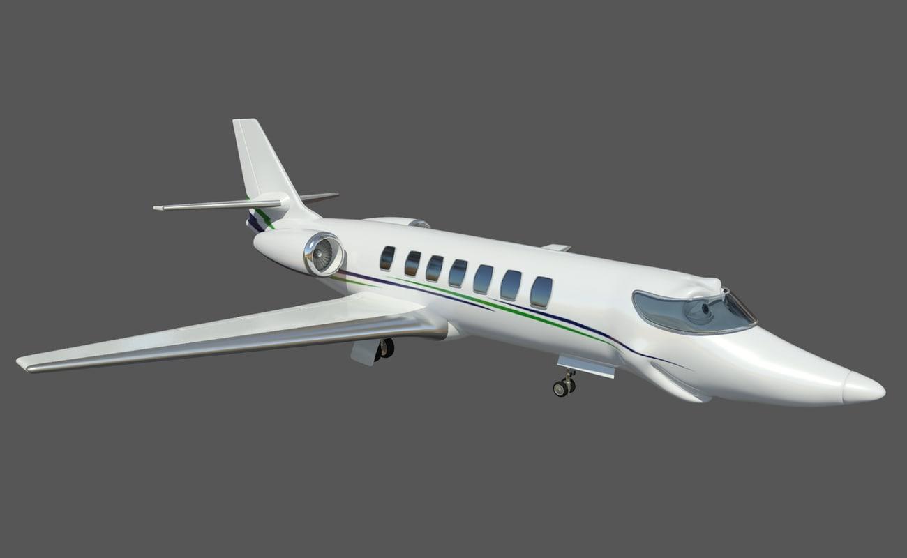 3d airplane cesna 680 model