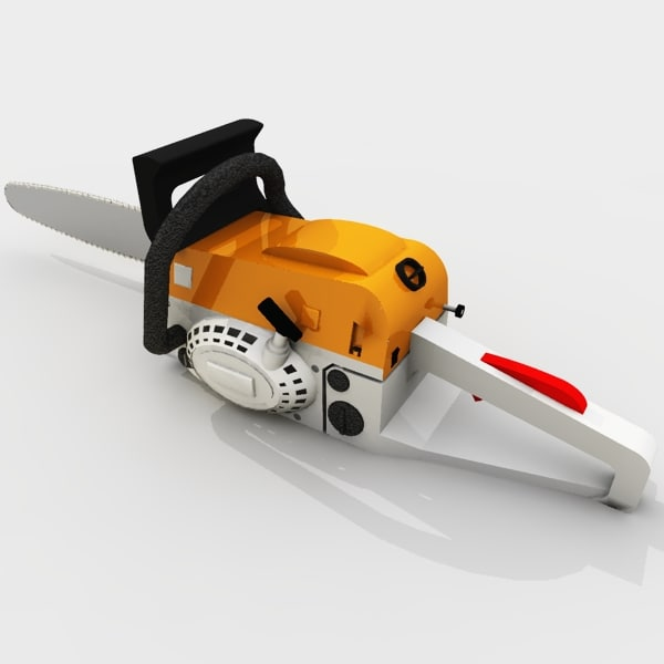 chainsaw tool outdoor 3d 3ds