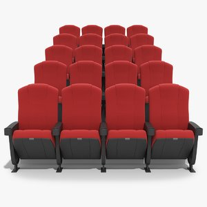 3d chairs movie theater model