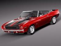 chevrolet camaro z28 1969 3d 3ds