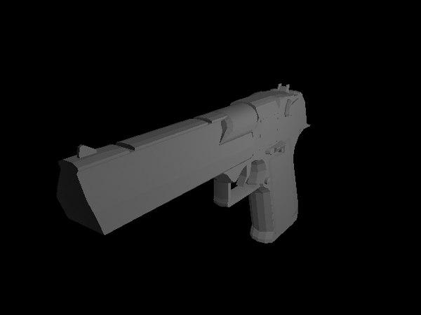 3d desert eagle model