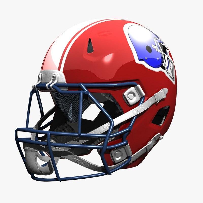 3d model football helmet