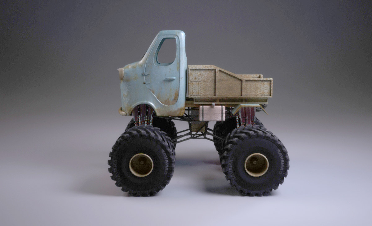 3ds max old monster truck