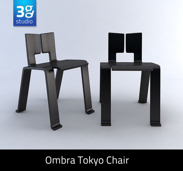 ombra tokyo chair 3d 3ds