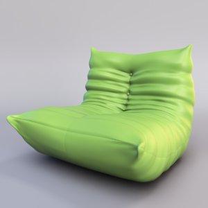 roset togo chair 3d model