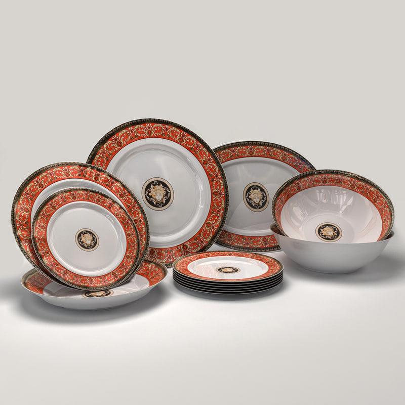 dinner plates 3d 3ds