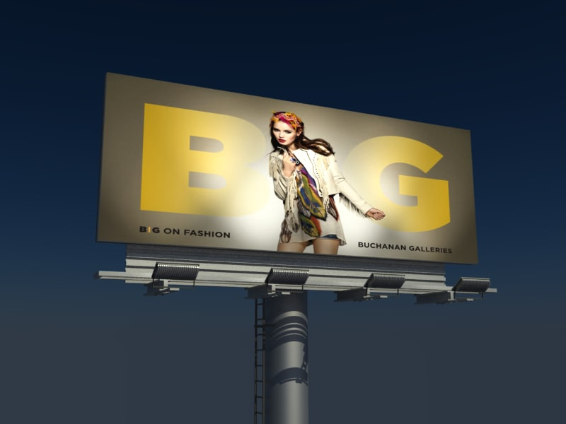 64 sheet billboard advertisement 3d model