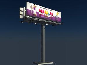 3d 96 sheet 2 billboard model