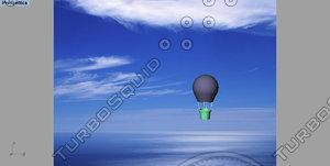 3ds max mongolfiere hot-air balloon