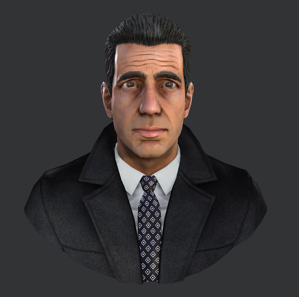 3d gangster head model