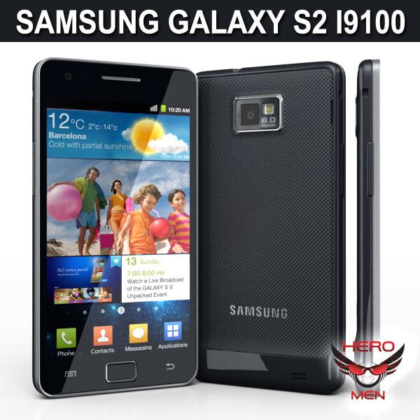 samsung galaxy s2 i9100 3d model