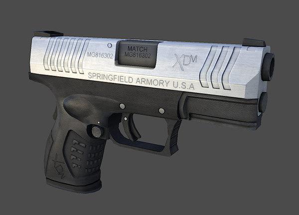 gun springfield weapon 3d model