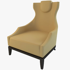 3d 3ds selva 1718 armchair