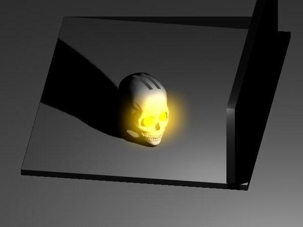 free glowing skull 3d model