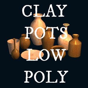 obj clay pots