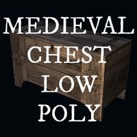 3d medieval chest model