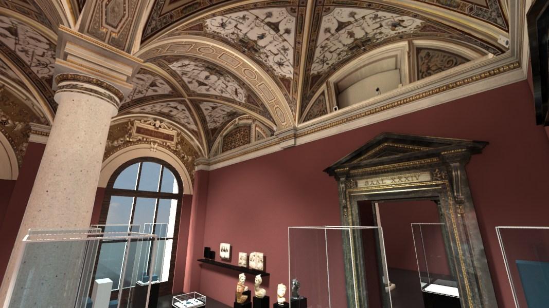 interior historical art chamber 3d model