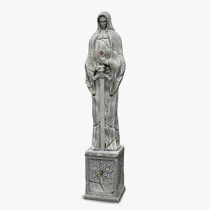 stone statue 3d model