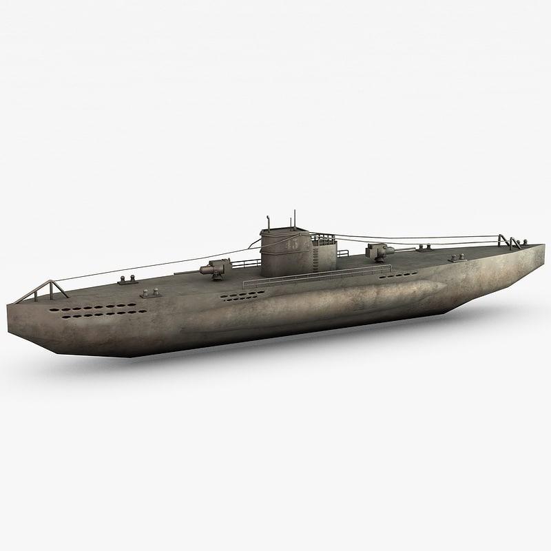 war german submarine u-boat c4d